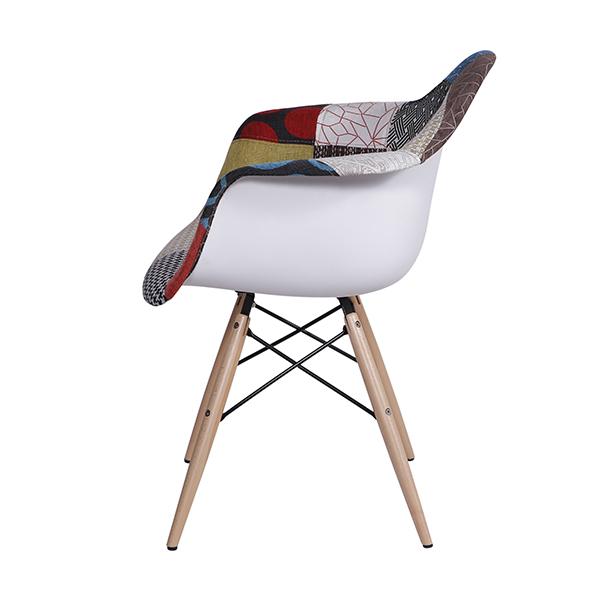 Cadeira Eiffel Charles Eames Com Bracos Patchwork  - Moln Design Furniture