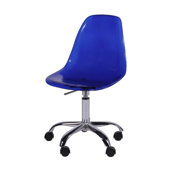 Cadeira Eiffel Rodízios Policarbonato Azul - Moln Design Furniture