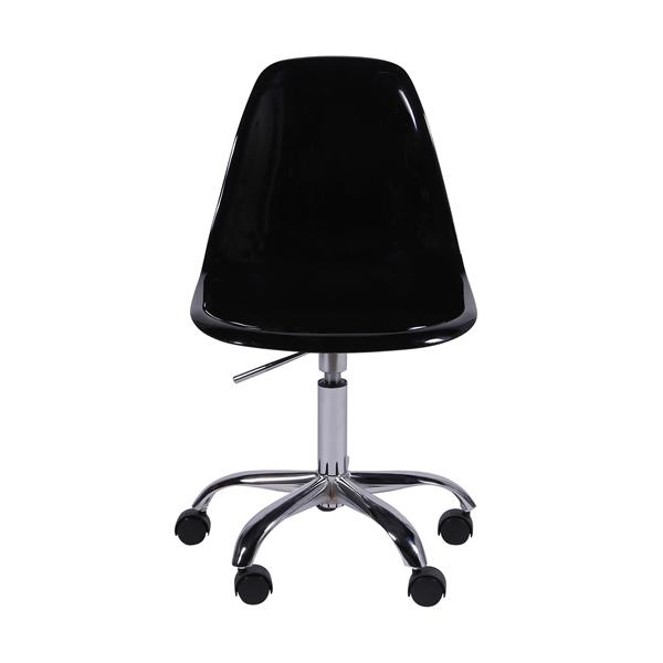 Cadeira Eiffel Rodízios Policarbonato Preta - Moln Design Furniture