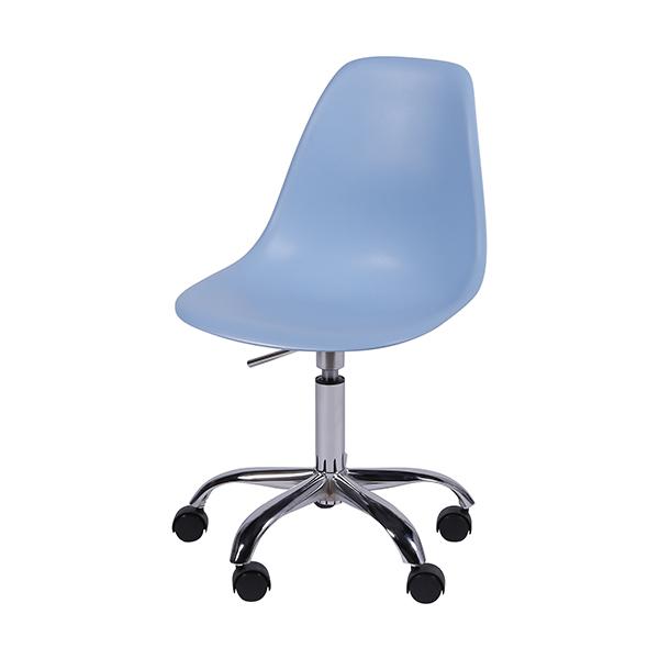 Cadeira Eiffel Rodízios Polipropileno Azul - Moln Design Furniture