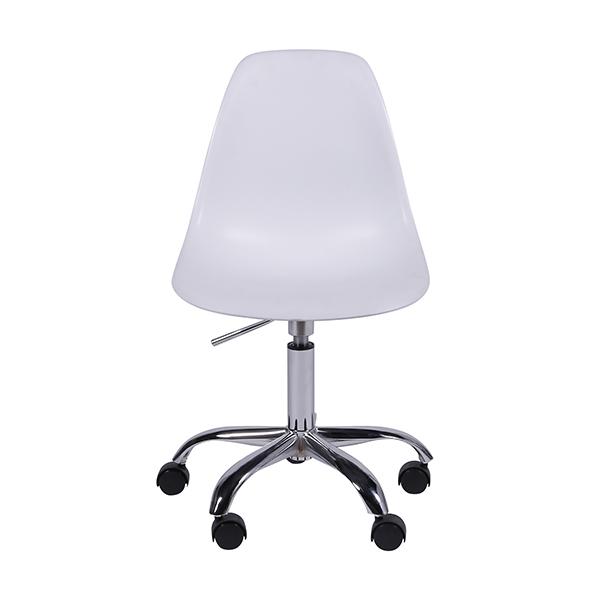 Cadeira Eiffel Rodízios Polipropileno Branca - Moln Design Furniture