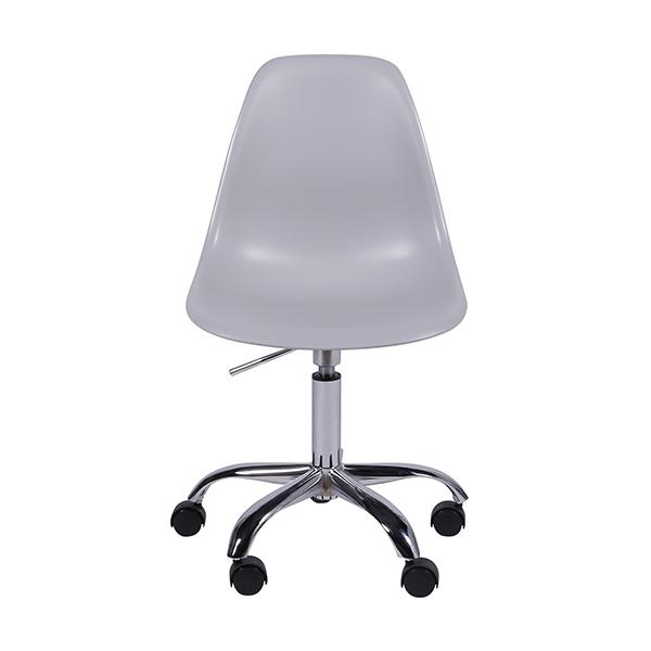 Cadeira Eiffel Rodízios Polipropileno Cinza - Moln Design Furniture