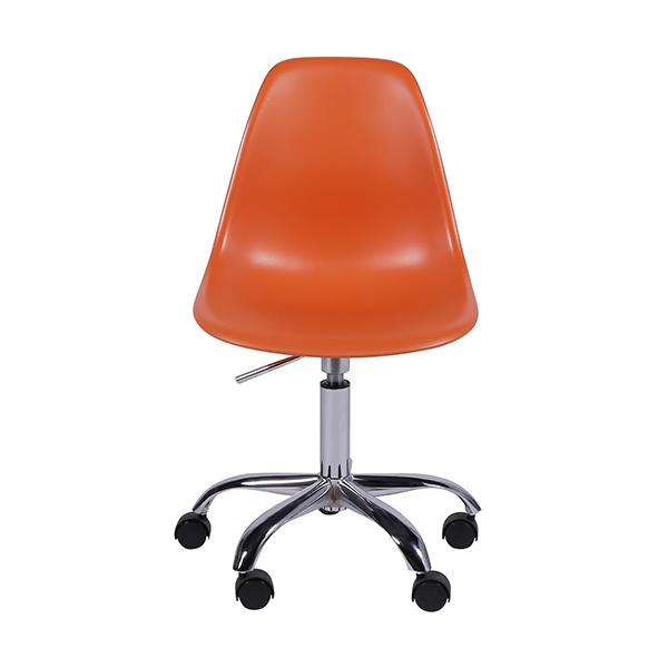 Cadeira Eiffel Rodízios Polipropileno Laranja - Moln Design Furniture