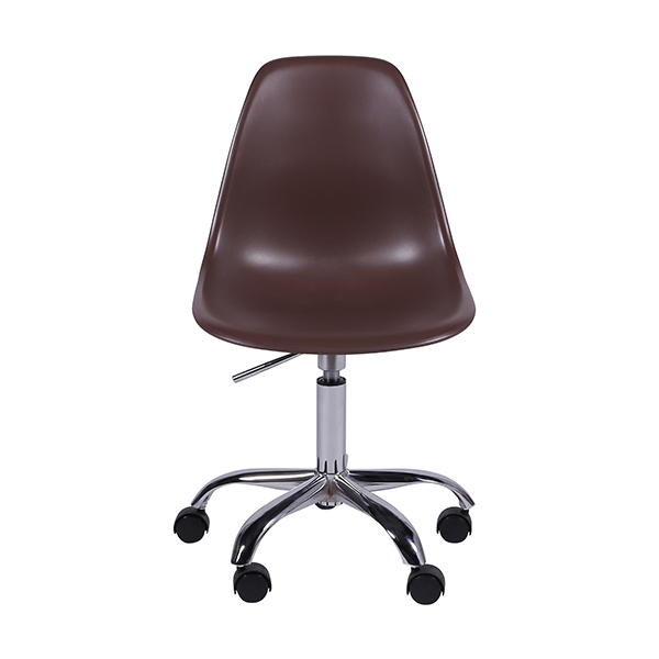 Cadeira Eiffel Rodízios Polipropileno Marrom - Moln Design Furniture