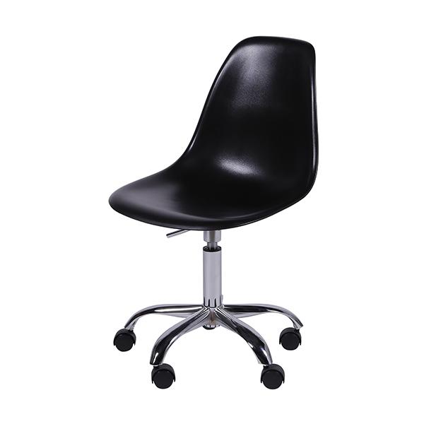 Cadeira Eiffel Rodízios Polipropileno Preta  - Moln Design Furniture