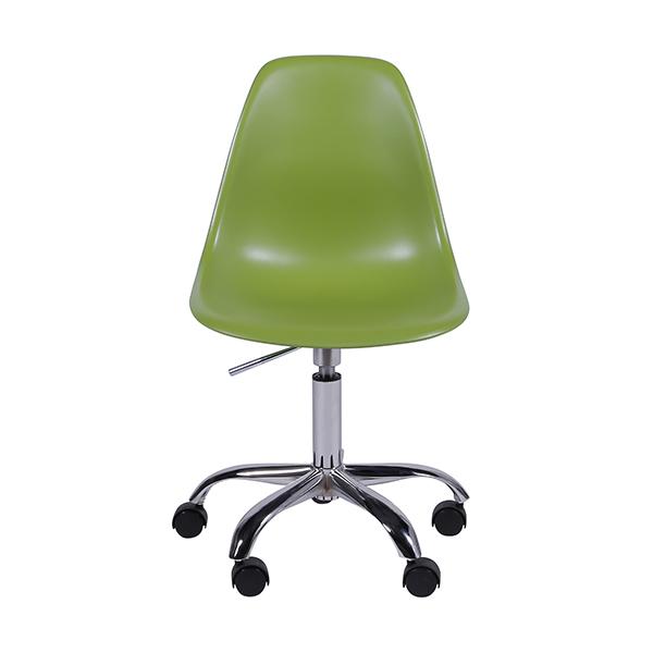 Cadeira Eiffel Rodízios Polipropileno Verde - Moln Design Furniture