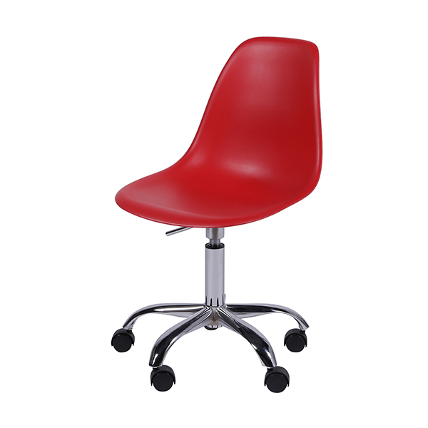 Cadeira Eiffel Rodízios Polipropileno Vermelha - Moln Design Furniture