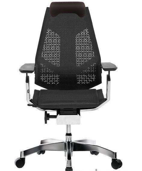 Cadeira Ergonômica Diretor Presidente Alto Padrão Genídia Mesh Preta - Moln Design Furniture