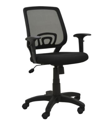 Cadeira Escritorio Avila Preta Ajuste no Braço - Moln Design Furniture