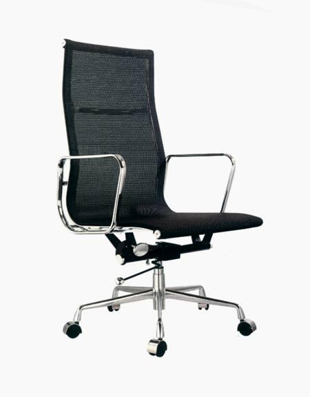 Cadeira Escritorio Bilbao Alta Preta - Moln Design Furniture