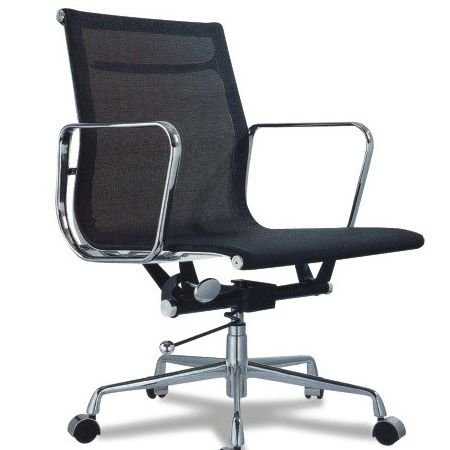 Cadeira Escritorio Bilbao Baixa Preta - Moln Design Furniture