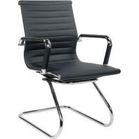 Cadeira Escritório BRUN FIXA Charles Eames Office Interlocutor Preta - Moln Design Furniture