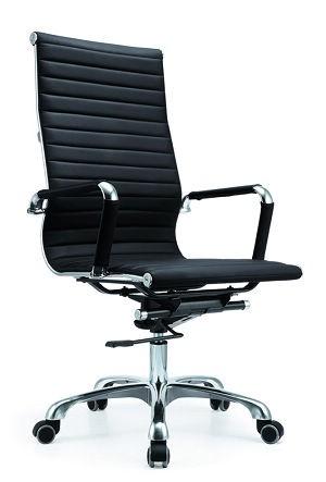 Cadeira Escritório BRUN HI Charles Eames Giratória Presidente Encosto Alto Preta - Moln Design Furniture
