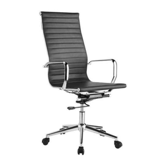 Cadeira Escritório Charles Eames Giratória Presidente Encosto Alto Preta - Moln Design Furniture