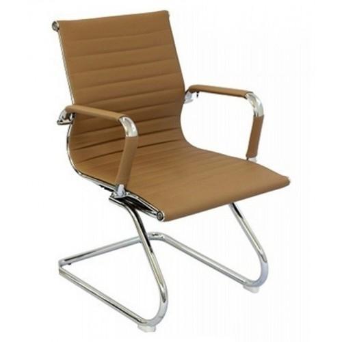 Cadeira Escritório Charles Eames Office Fixa Interlocutor Caramelo - Moln Design Furniture