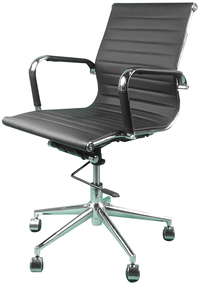 Cadeira Escritório Charles Eames Office Giratória Diretor Preta Encosto Baixo - Moln Design Furniture