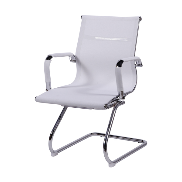 Cadeira Escritório Charles Eames Office Telinha Encosto Baixo Fixa Branca - Moln Design Furniture