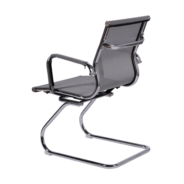 Cadeira Escritório Charles Eames Office Telinha Encosto Baixo Fixa Cinza - Moln Design Furniture