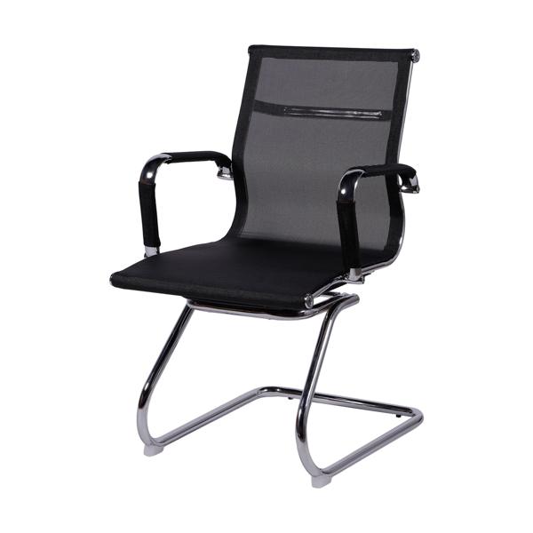 Cadeira Escritório Charles Eames Office Telinha Encosto Baixo Fixa Preta - Moln Design Furniture