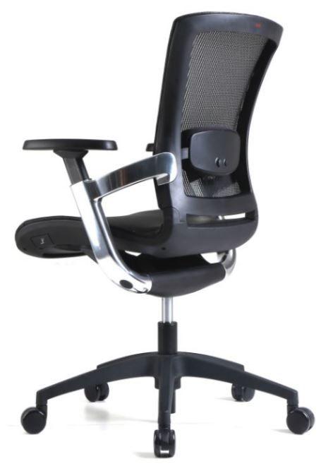 Cadeira Escritório Diretor Giratória Ergonômica em Tela Mesh Preta Modelo Skate - Moln Design Furniture