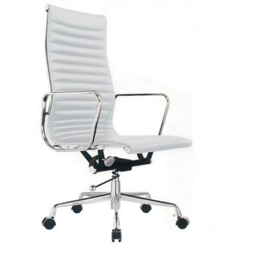 Cadeira Escritorio Madrid Alta Branca - Moln Design Furniture
