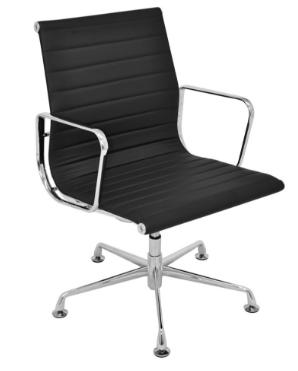 Cadeira Escritorio Office Madrid Fixa Preta - Moln Design Furniture