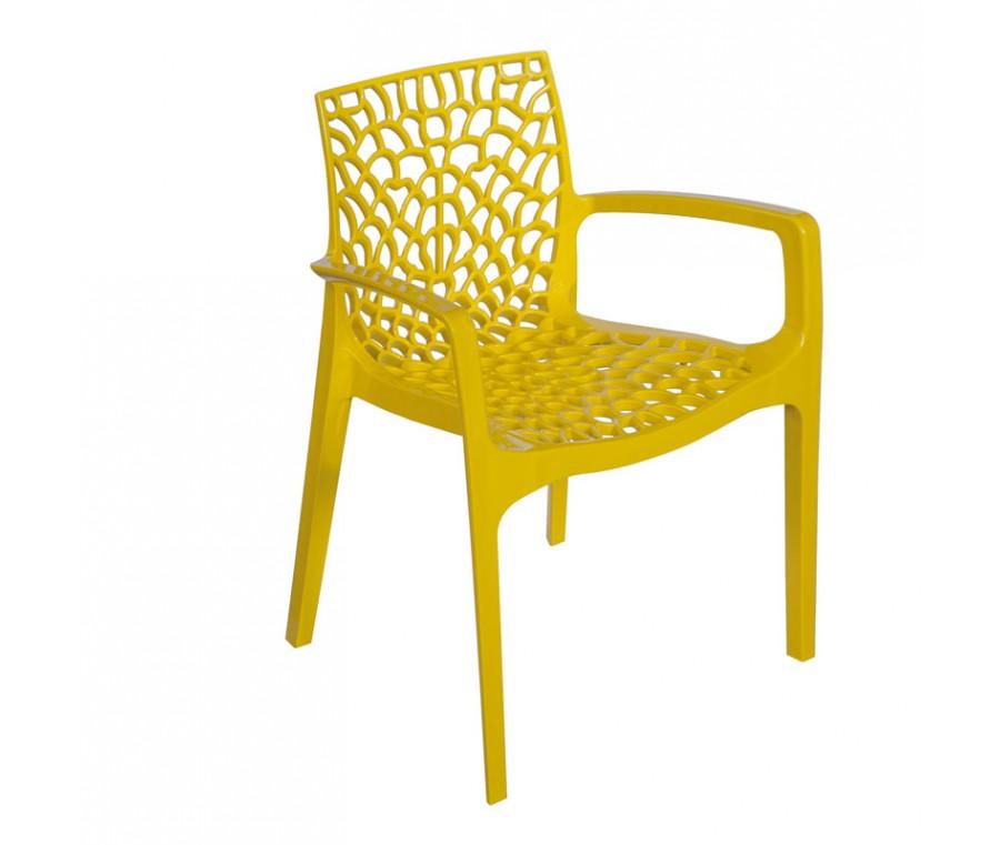 Cadeira Gruvyer Com Braço Amarelo - Moln Design Furniture