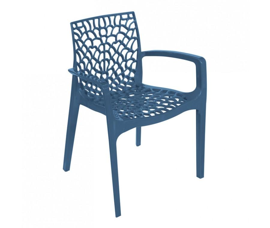 Cadeira Gruvyer Com Braço Azul - Moln Design Furniture