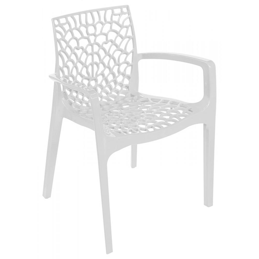 Cadeira Gruvyer Com Braço Branca - Moln Design Furniture