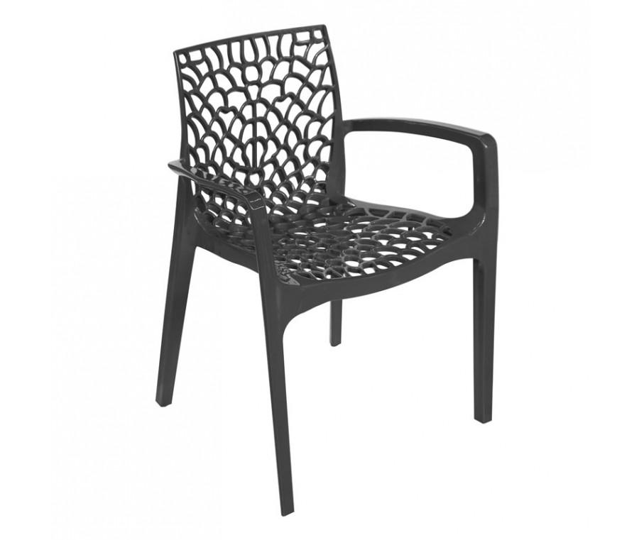 Cadeira Gruvyer Com Braço Cinza - Moln Design Furniture
