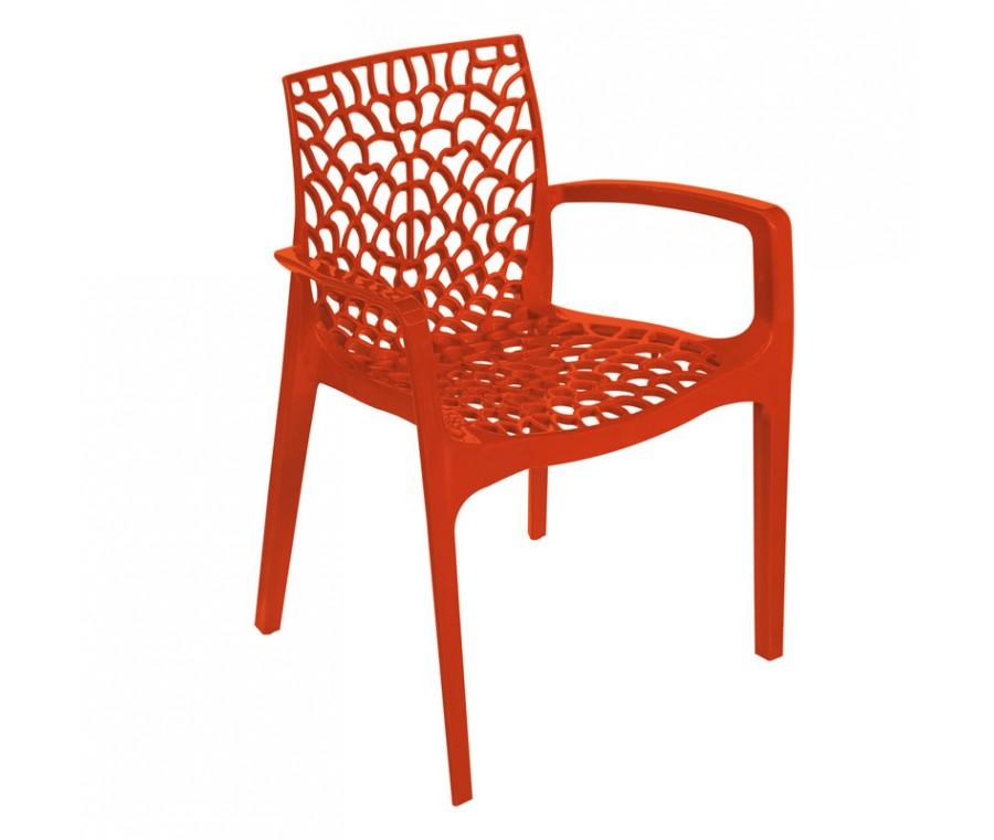 Cadeira Gruvyer Com Braço Laranja - Moln Design Furniture