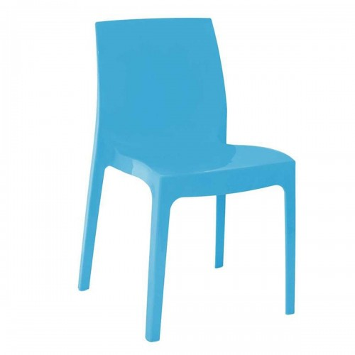Cadeira Ice Polipropileno Azul - Moln Design Furniture