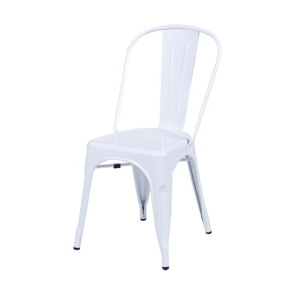 Cadeira Iron Tolix Vintage Aço Carbono Anodizado Com Pintura Epóxi Branca - Moln Design Furniture