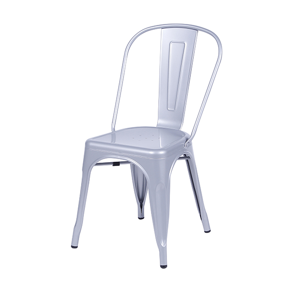 Cadeira Iron Tolix Vintage Aço Carbono Anodizado Com Pintura Epóxi Cinza - Moln Design Furniture