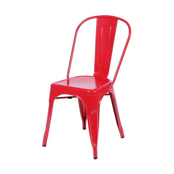 Cadeira Iron Tolix Vintage Aço Carbono Anodizado Com Pintura Epóxi Vermelha - Moln Design Furniture