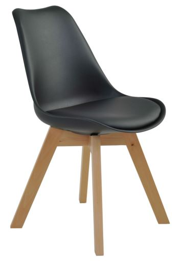Cadeira Leda Preta - Moln Design Furniture