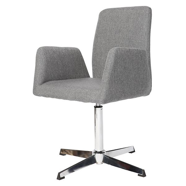 Cadeira Linho Cinza Claro Base Cromada - Moln Design Furniture
