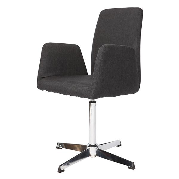 Cadeira Linho Grafite Base Cromada - Moln Design Furniture