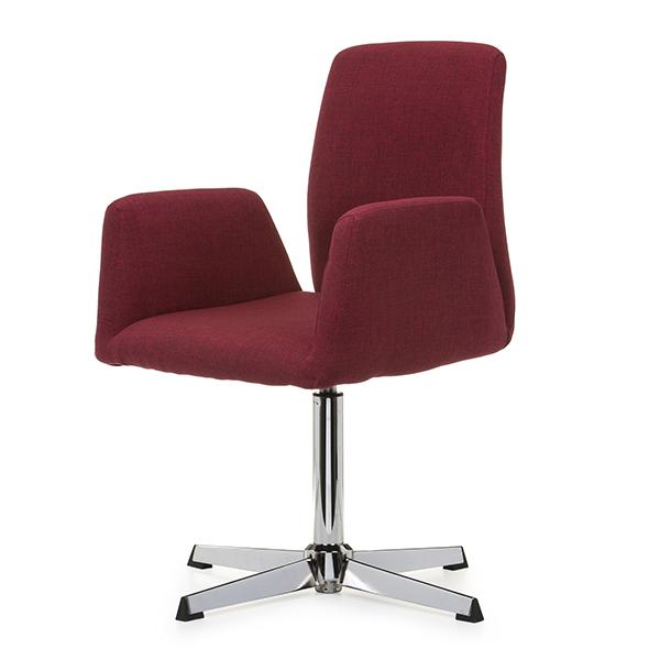 Cadeira Linho Vermelho Base Cromada - Moln Design Furniture