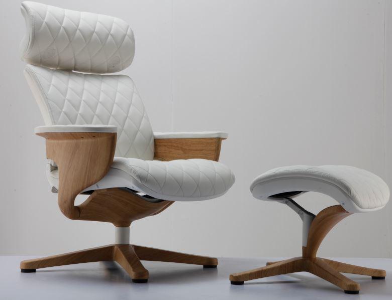 Cadeira Lounge Moln Nuvem Em Couro Captone Frame Madeira - Moln Design Furniture