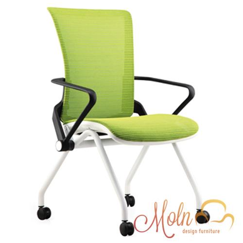 Cadeira Ergonômica Escritório com Rodizios em Tela Mesh Verde Modelo Lii - Moln Design Furniture