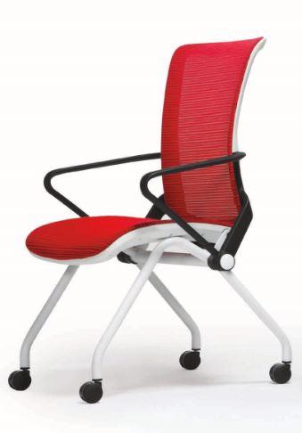 Cadeira Ergonômica Escritório com Rodizios em Tela Mesh Vermelha Modelo Lii - Moln Design Furniture
