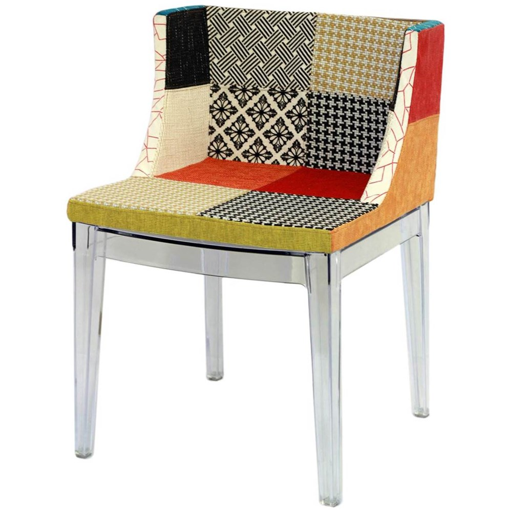 Cadeira Mademoiselle Christie Philippe Starck Tecido Mix PatchWork - Moln Design Furniture