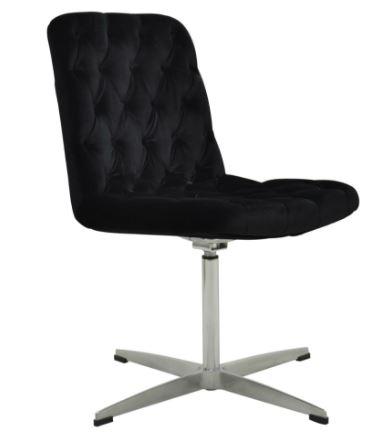 Cadeira Marta Veludo Capitonê Preto - Moln Design Furniture