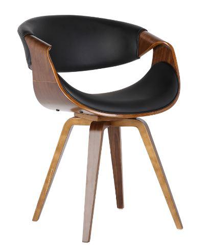 Cadeira Nicole Pu Preta - Moln Design Furniture