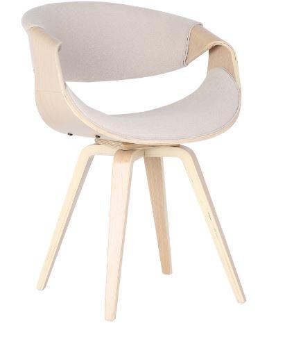 Cadeira Nicole Tecido Linho Cru - Moln Design Furniture