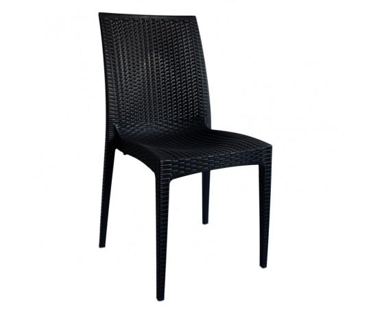 Cadeira Rattan Polipropileno Preta - Moln Design Furniture