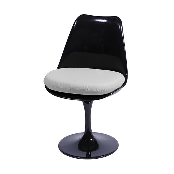 Cadeira Saarinen Preta Assento Branco - Moln Design Furniture