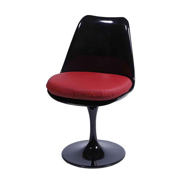 Cadeira Saarinen Preta Assento Vermelho - Moln Design Furniture