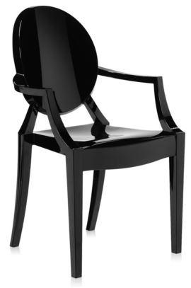 Cadeira Sophia com Braço Preta - Moln Design Furniture